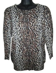 J.Crew Animal Print Leopard Cheetah Fall Sweater