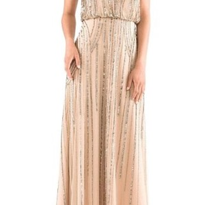 Adrianna Papell Taupe Pink Dress