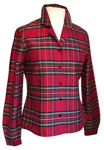 Jones New York Top Red plaid