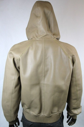 Gucci Brown New Men's Leather Bomber W/Hood It 52 / Us 42 343775 2505 Groomsman Gift