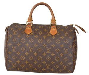 Louis Vuitton Lv Speedy 30 Satchel in Brown
