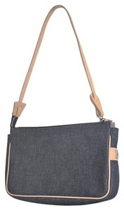 Dooney & Bourke Italian Denim Leather Small Baguette