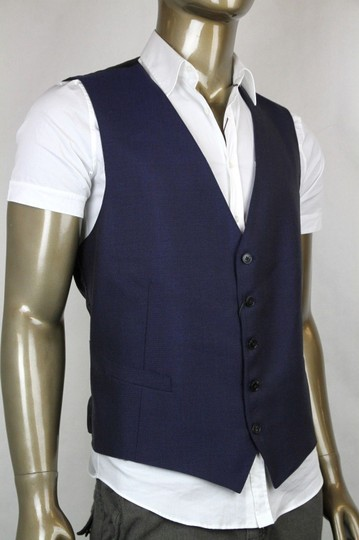 Gucci Navy Blue New Mens Wool Mohair It 54 / Us 44 234125 4564 Top Vest