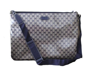Gucci Crystal Gg Messenger Laptop Bag
