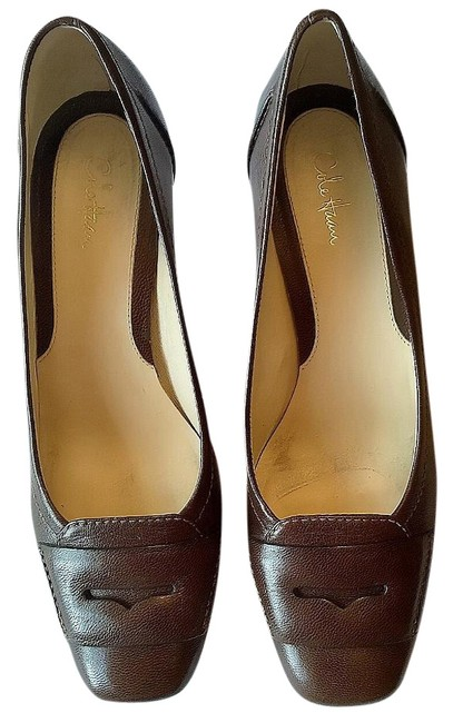 Cole Haan Brown Pebbled Leather Penny Loafer Pumps Size US 8.5 Narrow (Aa, N) Cole Haan Brown Pebbled Leather Penny Loafer Pumps Size US 8.5 Narrow (Aa, N) Image 1