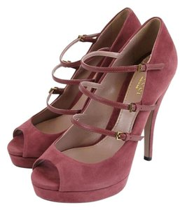Gucci Suede High Heel Tibet Red Pumps