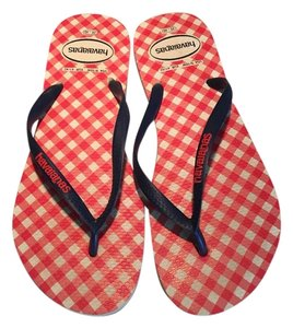 Havaianas #havaianasslim Flipflop Checked Havaianaflipflop Red, White and Blue Sandals