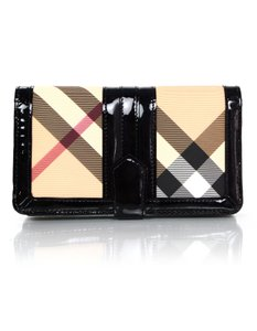 Burberry Burberry Black Patent Leather and Nova Plaid Wallet