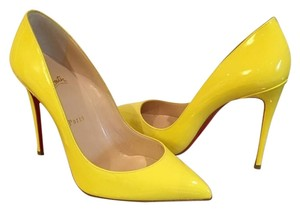 Christian Louboutin Size 38 Yellow Sun Pumps