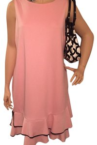 Eloqui short dress Pink with black piping on Tradesy
