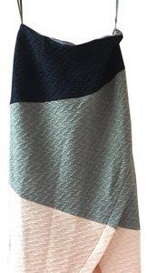 Anthropologie Skirt Navy, grey and pink