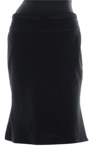 Marc Jacobs Pencil Wool Flare Skirt Black