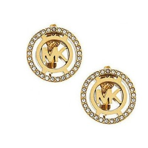 Michael Kors Heritage Fulton Logo Clip On Earrings Gold Tone MKJ4083710