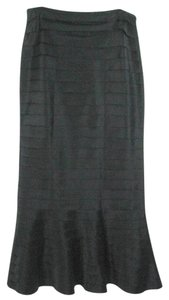 Varanique Long Tiered Mermaid Maxi Skirt Black
