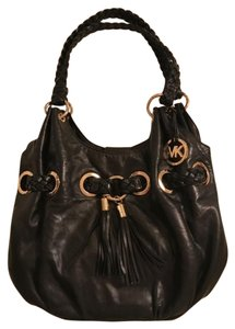 Michael Kors Tassel Brommet Gold Braided Leather Hobo Bag