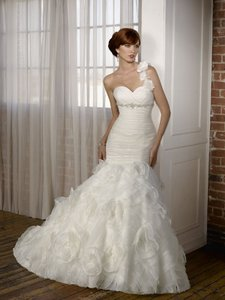 Mori Lee Organza With Jeweled Beading - Mori Lee Blu Collection Wedding Dress