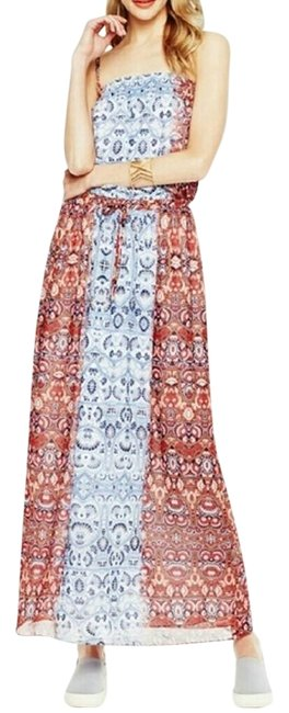 Item - Blue and Red Two By Moroccan Print Long Casual Maxi Dress Size 10 (M)