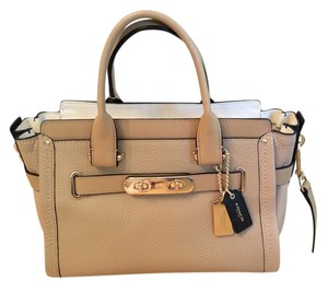 Coach Swagger 27 Swagger Pilot Swagger Colorblock Satchel in Nude