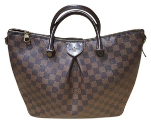 Louis Vuitton Sienna Leather Satchel in Damier