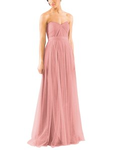 Jenny Yoo Whipped Apricot Tulle Annabelle Formal Bridesmaid/Mob Dress Size 4 (S)