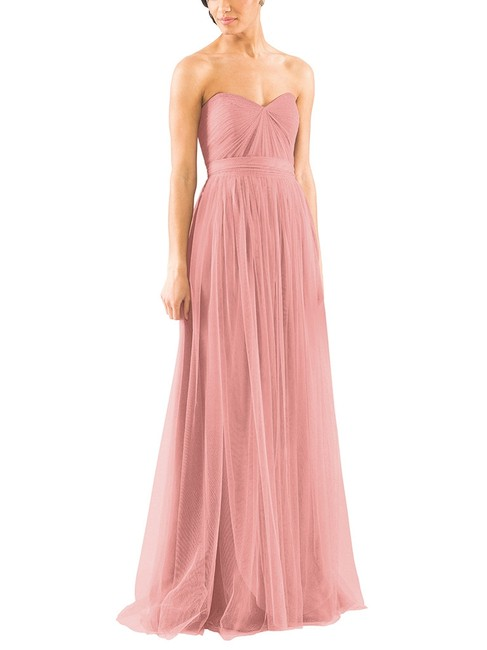 Item - Whipped Apricot Tulle Annabelle Formal Bridesmaid/Mob Dress Size 4 (S)