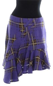Nanette Lepore Plaid Skirt Purple