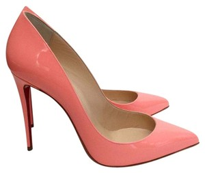 Christian Louboutin Bright Coral Peach Flamingo Pumps