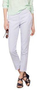 J.Crew Seersucker Pinstripe Capri Office Capri/Cropped Pants Blue