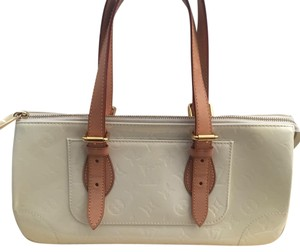 Louis Vuitton Monogram Patent Leather Satchel in Pearl