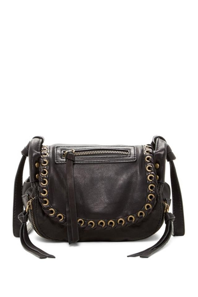 Joelle Hawkens by Treesje Mini Swallow Black Leather Cross Body Bag ... 733107a45482a