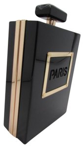 Other Paris Perfume Plastic Bottle Black Women Trendy Purse Clutch Evening