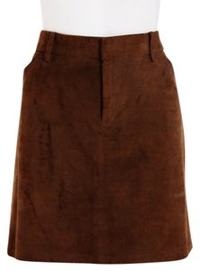 Ralph Lauren Brown Suede Mini Size 10 Boho Mini Skirt Brown Rust
