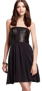 Rebecca Taylor Strapless Leather Bustier Dress