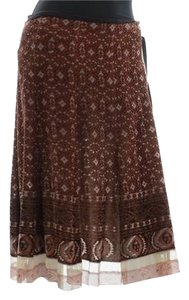 Elie Tahari Velvet Skirt Brown