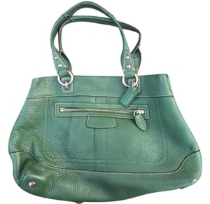 Coach Leather Tote in Green