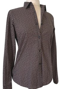 Orla Kiely Button Down Shirt black