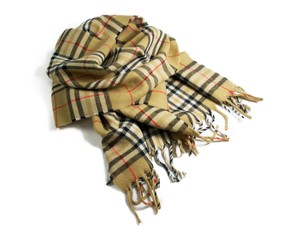 Burberry Burberry Scarf in yellow Check 100% Lambswool