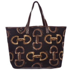 Gucci Tote in Black Print