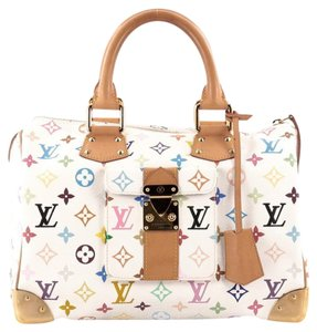 Louis Vuitton Canvas Satchel in White