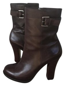 Via Spiga Leather Autumn Elegant Winter Brown/Burnt Umber Boots