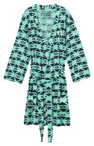 PINK Victoria's Secret PINK Teal Aztec Tribal print Robe size XS/S
