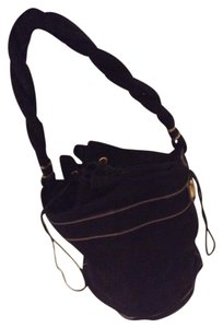 Fendi Suede Bucket Designer Shoulder Bag