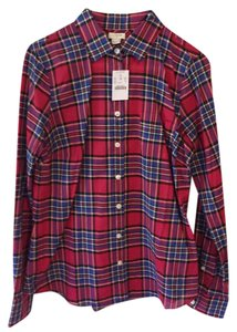 J.Crew Shirt Button Down Shirt Red Plaid