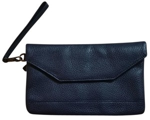 L.L.Bean Leather Night Out Date Night Navy Blue Clutch