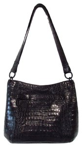 Nancy Gonzalez Crocodile Black Hobo Bag