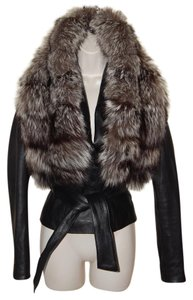 EFUNK Lambskin Leather Fur Leather Jacket