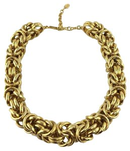 Céline Celine Knot Chain Link Necklace
