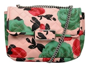 Marc Jacobs Quilted Floral Coated Leather Chain Cross Body Bag
