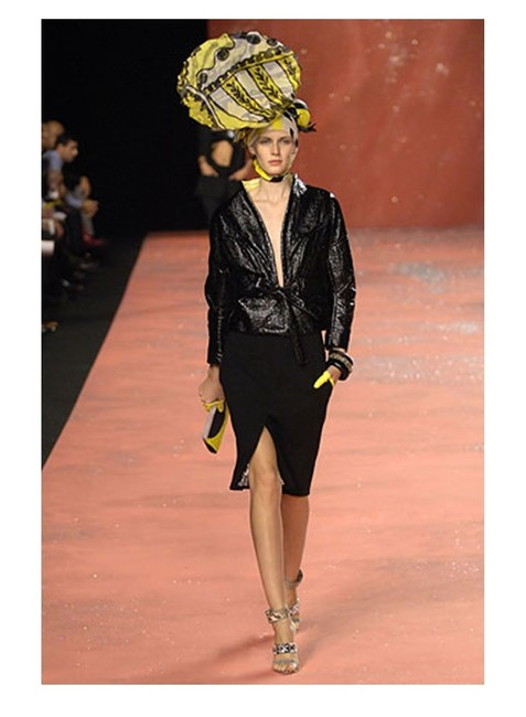 Christian Lacroix New Runway Belted Leather Jacket Image 1