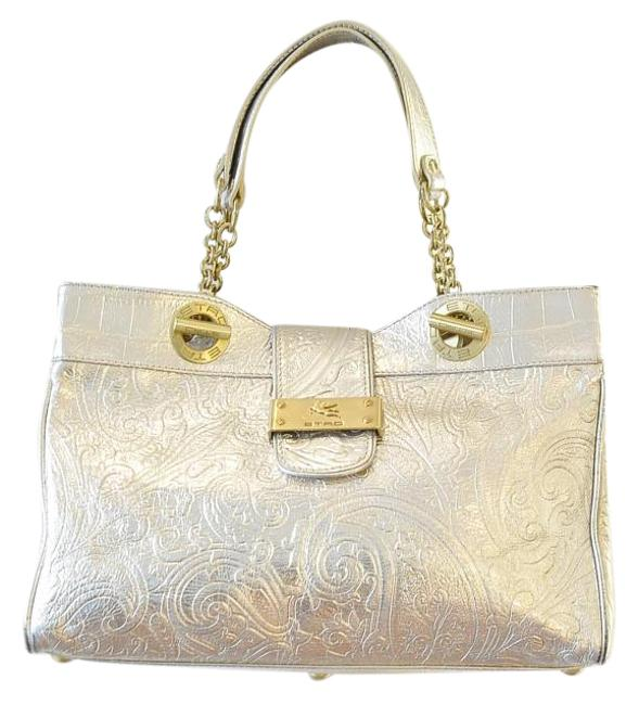 Item - Metallic Gold Leather Tote